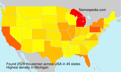 Surname Houseman in USA
