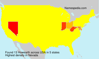 Surname Howearth in USA