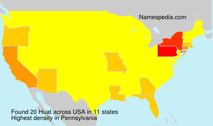 Surname Huat in USA