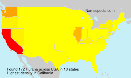 Surname Hufana in USA