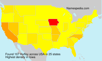 Surname Huffey in USA