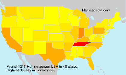 Surname Huffine in USA