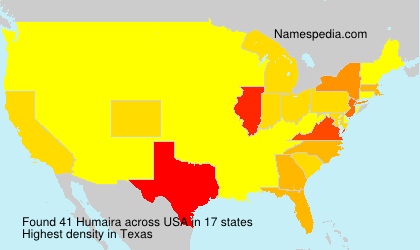 Surname Humaira in USA