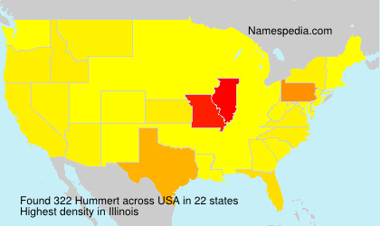 Surname Hummert in USA