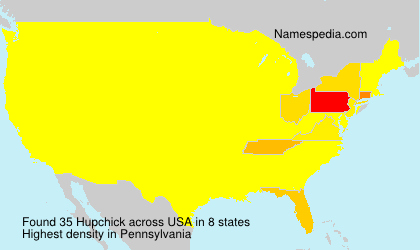 Surname Hupchick in USA