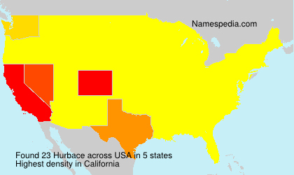 Surname Hurbace in USA