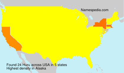 Surname Huru in USA