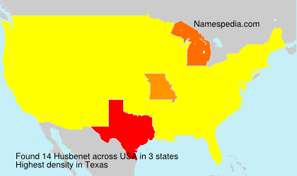 Surname Husbenet in USA