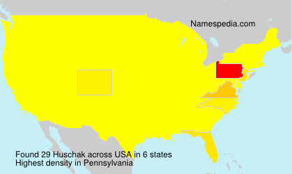 Surname Huschak in USA