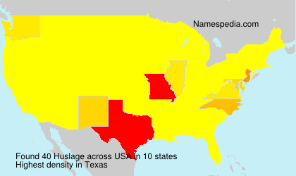 Surname Huslage in USA