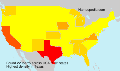 Surname Ibarro in USA