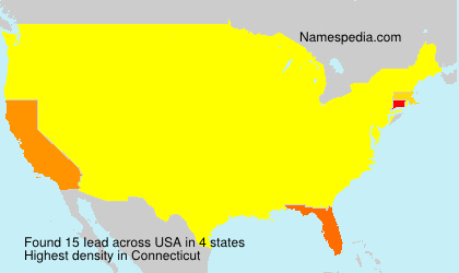 Surname Iead in USA