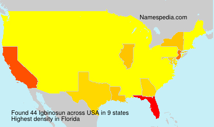 Surname Igbinosun in USA