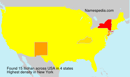 Surname Iliohan in USA