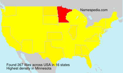 Surname Illies in USA