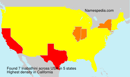 Surname Inabathini in USA
