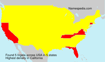 Surname Ingela in USA