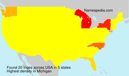 Surname Inges in USA
