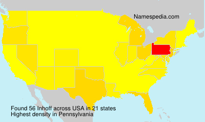Surname Inhoff in USA
