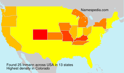 Surname Inmann in USA