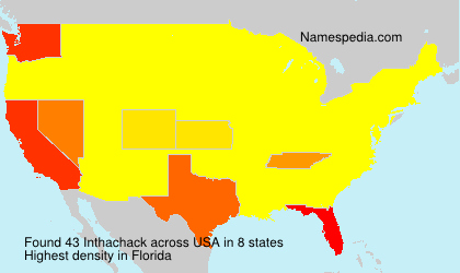 Surname Inthachack in USA