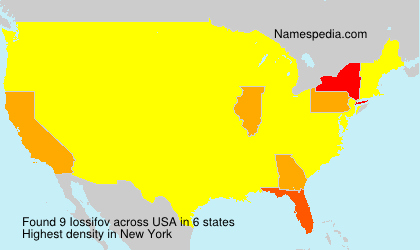 Surname Iossifov in USA