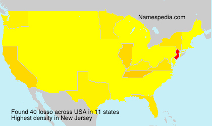 Surname Iosso in USA