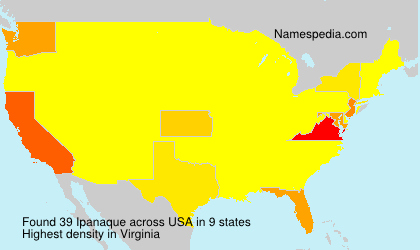 Surname Ipanaque in USA