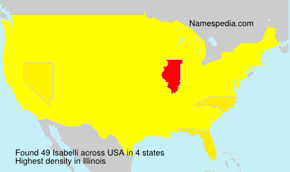 Surname Isabelli in USA