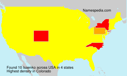 Surname Isaenko in USA