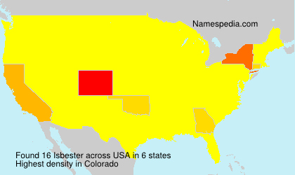 Surname Isbester in USA