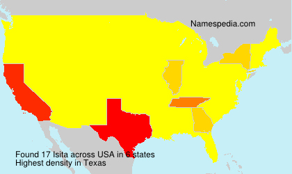 Surname Isita in USA