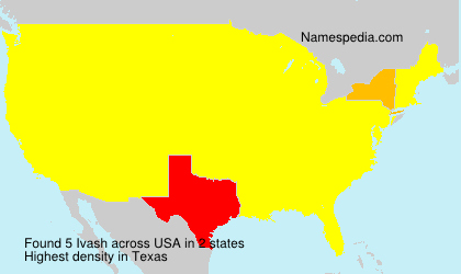 Surname Ivash in USA
