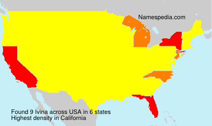 Surname Ivina in USA