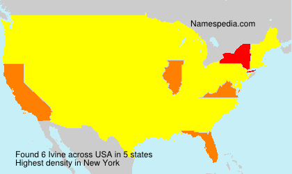 Surname Ivine in USA