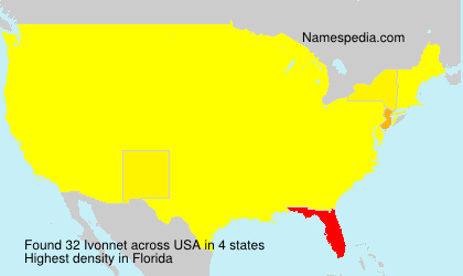 Surname Ivonnet in USA