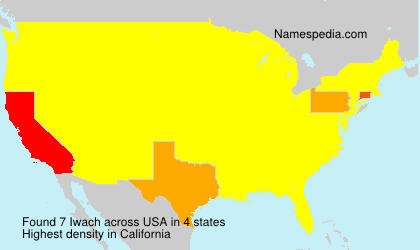 Surname Iwach in USA