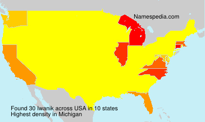 Surname Iwanik in USA