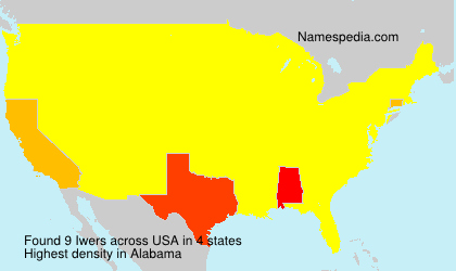 Surname Iwers in USA