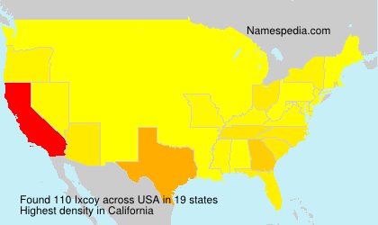 Surname Ixcoy in USA