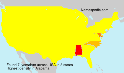 Surname Iyomahan in USA