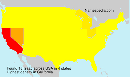 Surname Izaac in USA