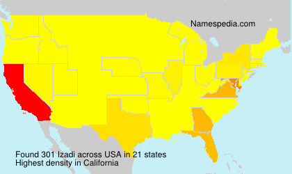 Surname Izadi in USA