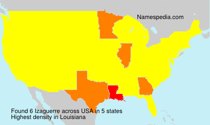 Surname Izaguerre in USA