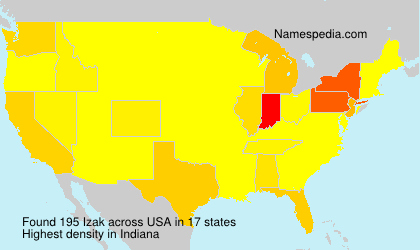 Surname Izak in USA