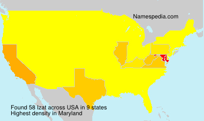 Surname Izat in USA