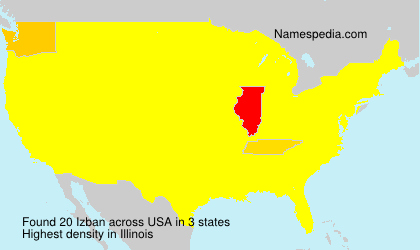 Surname Izban in USA