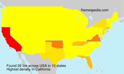 Surname Ize in USA