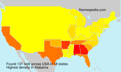 Surname Izell in USA