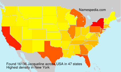 Surname Jacqueline in USA
